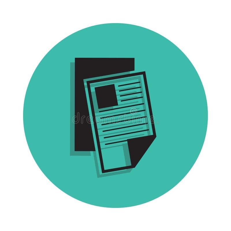 Icône de journal Élément de maison d'impression pour le concept et l'icône mobiles d'apps de Web Ligne mince icône avec l'ombre d illustration libre de droits