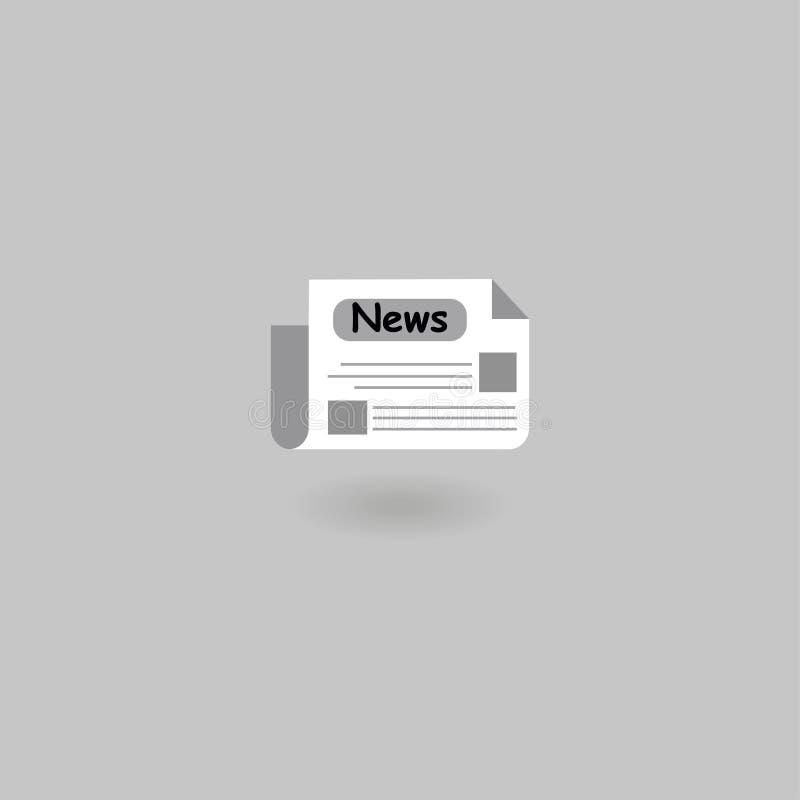 Icône de journal nouvelles Illustration de vecteur ENV 10 illustration de vecteur