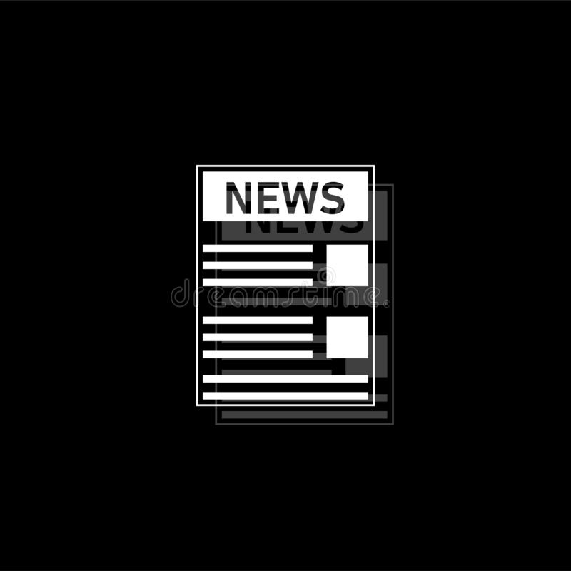 Icône de journal plate illustration stock