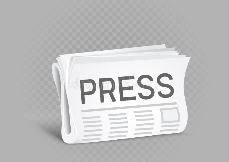 Icône de journal de presse illustration stock