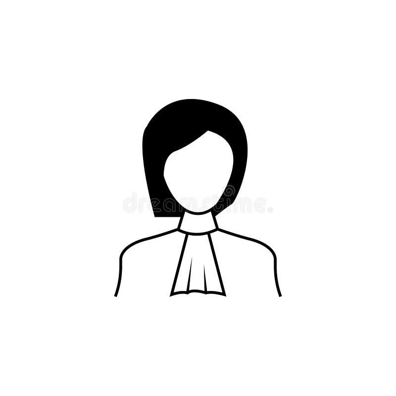 icône de juge de femme Élément d'avatar des professions pour les apps mobiles de concept et de Web Ligne mince icône pour la conc illustration de vecteur