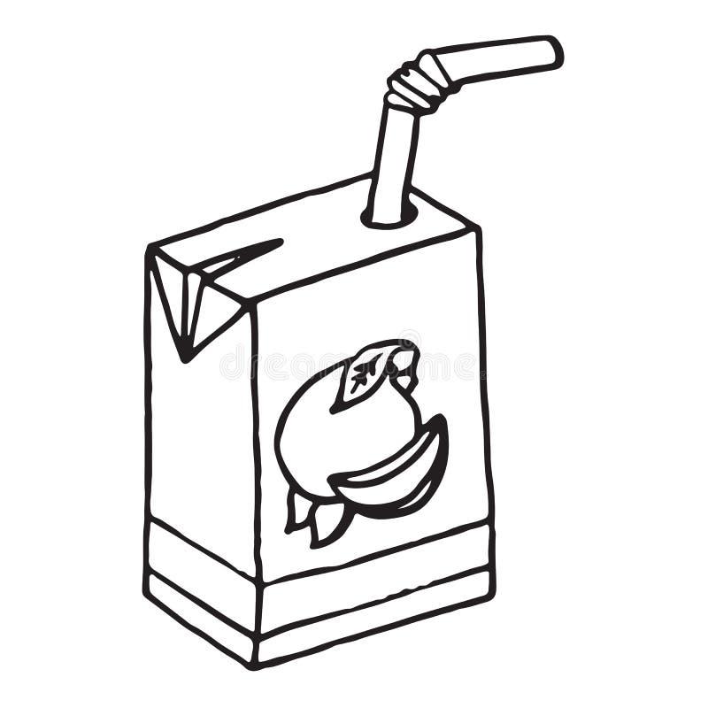 Icône de jus Illustration de vecteur d'un paquet de jus illustration libre de droits