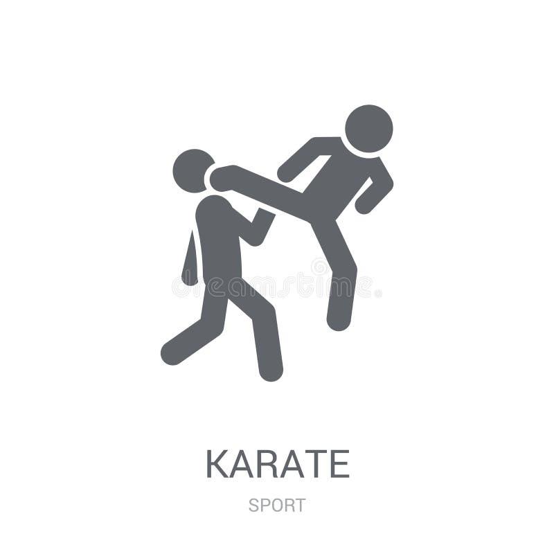 Icône de karaté  illustration stock