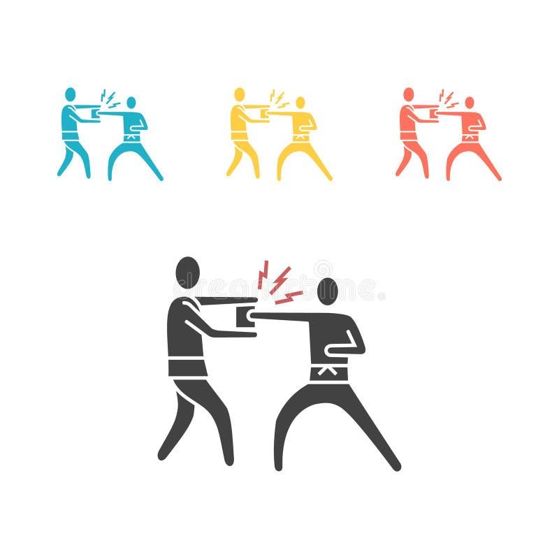 Icône de karaté Rupture, arts martiaux Illustration de vecteur illustration stock