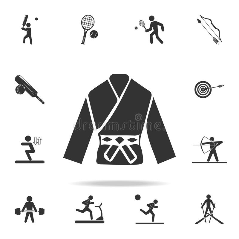 icône de kimono de karaté Ensemble détaillé d'icônes d'athlètes et d'accessoires Conception graphique de qualité de la meilleure  illustration libre de droits