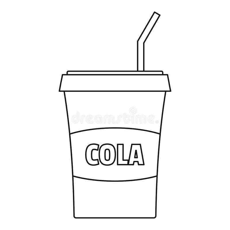 Icône de kola, style d'ensemble illustration stock