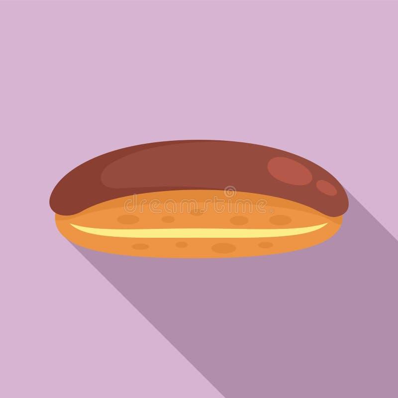 Icône de l'éclair de chocolat, style plat illustration de vecteur