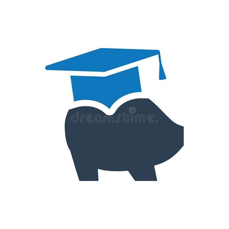Icône de l'épargne d'éducation illustration stock