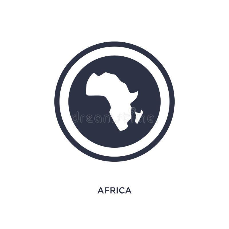 icône de l'Afrique sur le fond blanc Illustration simple d'élément de concept de l'Afrique illustration de vecteur