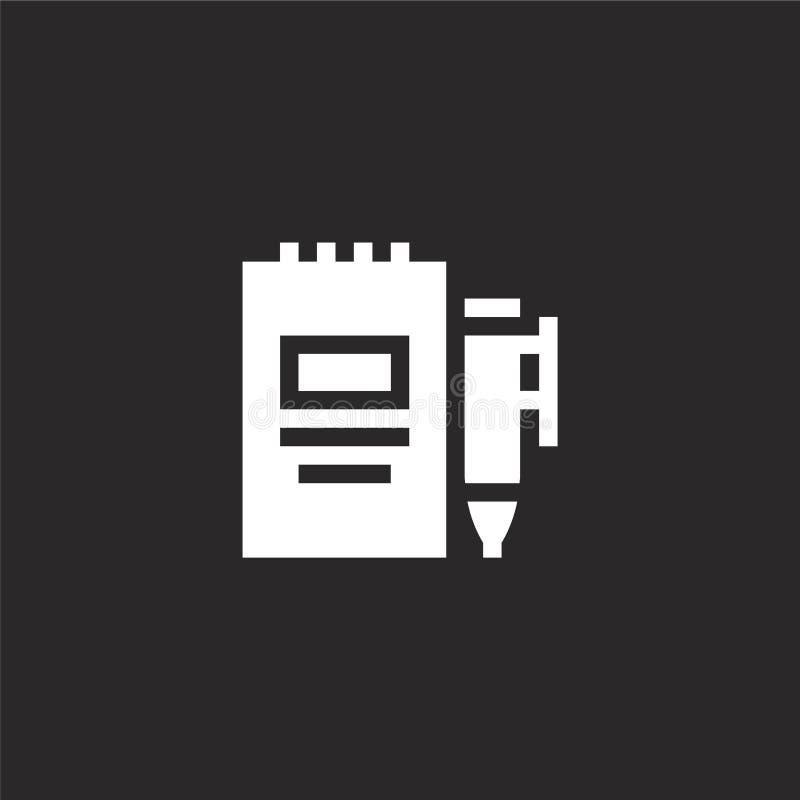 icône de l'agenda Icône de l'agenda rempli pour la conception de sites Web et le développement d'applications mobiles icône de l' illustration libre de droits
