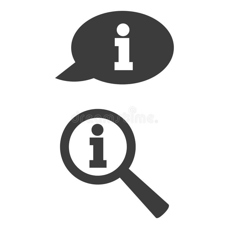 Icône de l'information dans deux versions illustration stock