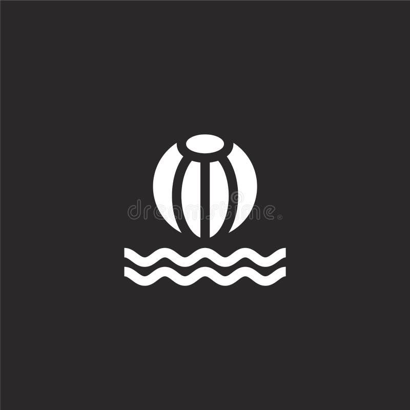icône de la bille Icône à billes remplie pour la conception de sites Web et le développement d'applications mobiles icône en form illustration de vecteur