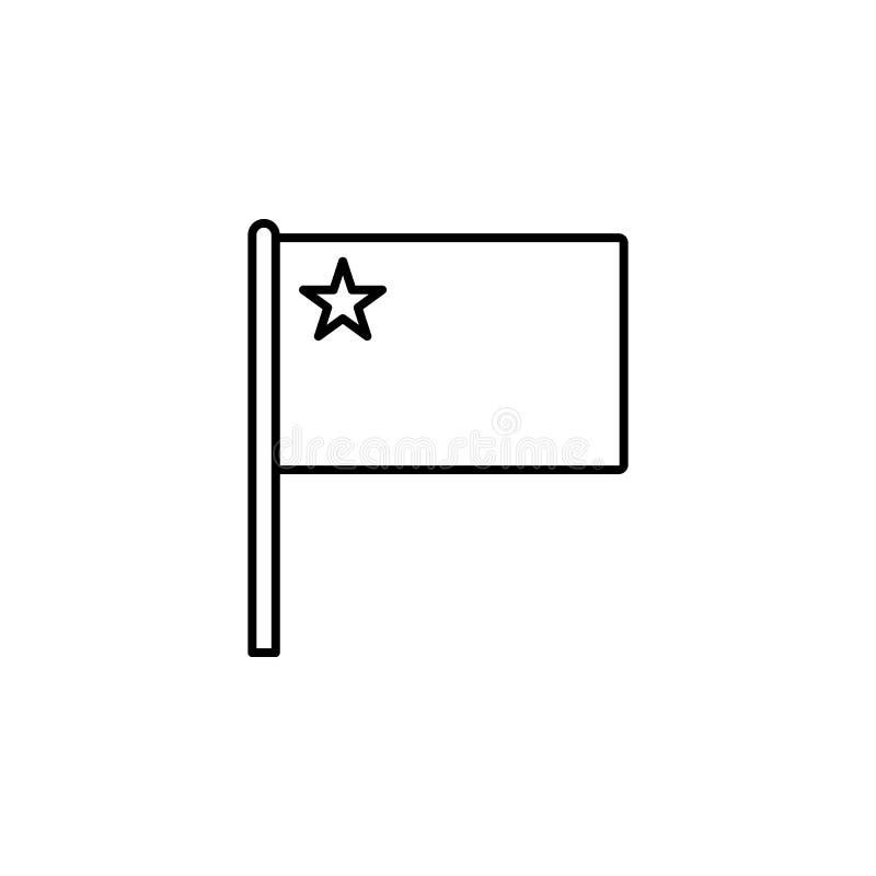 Icône de la Chine Élément d'icône de drapeau pour les apps mobiles de concept et de Web La ligne mince icône de la Chine peut êtr illustration de vecteur