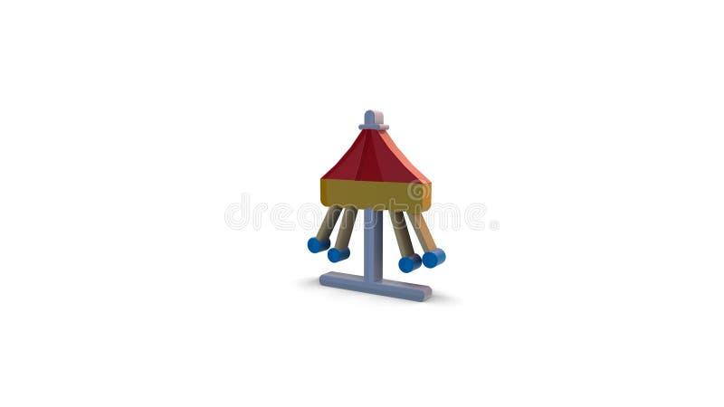 icône de la couleur 3d de carrousel de parc d'attractions illustration stock