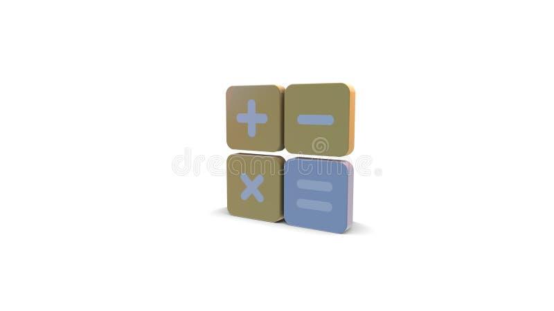 icône de la couleur 3d du calcul illustration stock