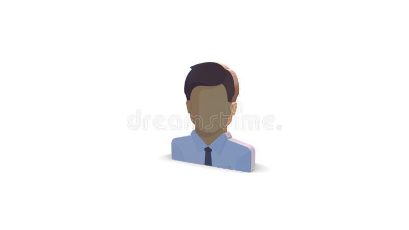 icône de la couleur 3d de patron illustration de vecteur