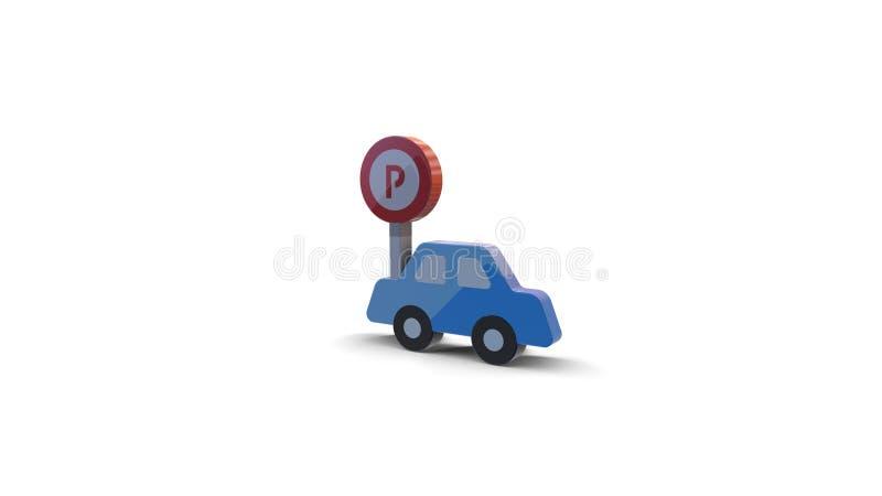 icône de la couleur 3d de voiture illustration stock