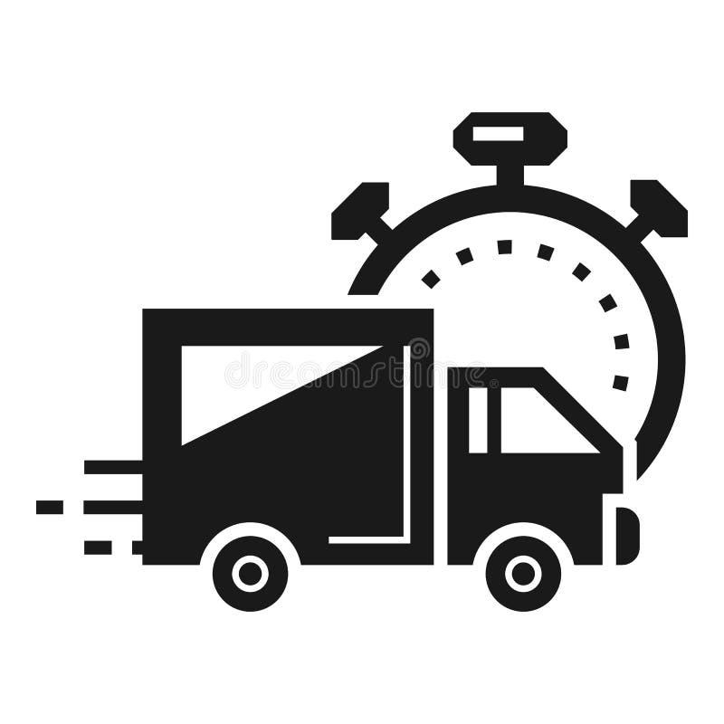 Icône de la livraison de colis express, style simple illustration de vecteur