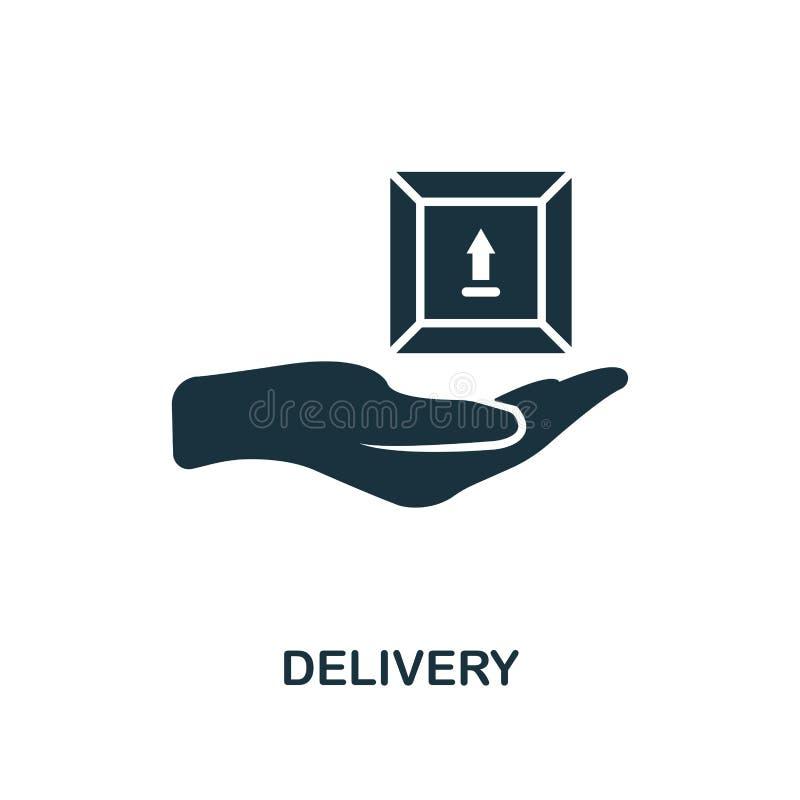 Icône de la livraison Conception monochrome de style de collection d'icône de la livraison de logistique Ui Icône simple parfaite illustration de vecteur