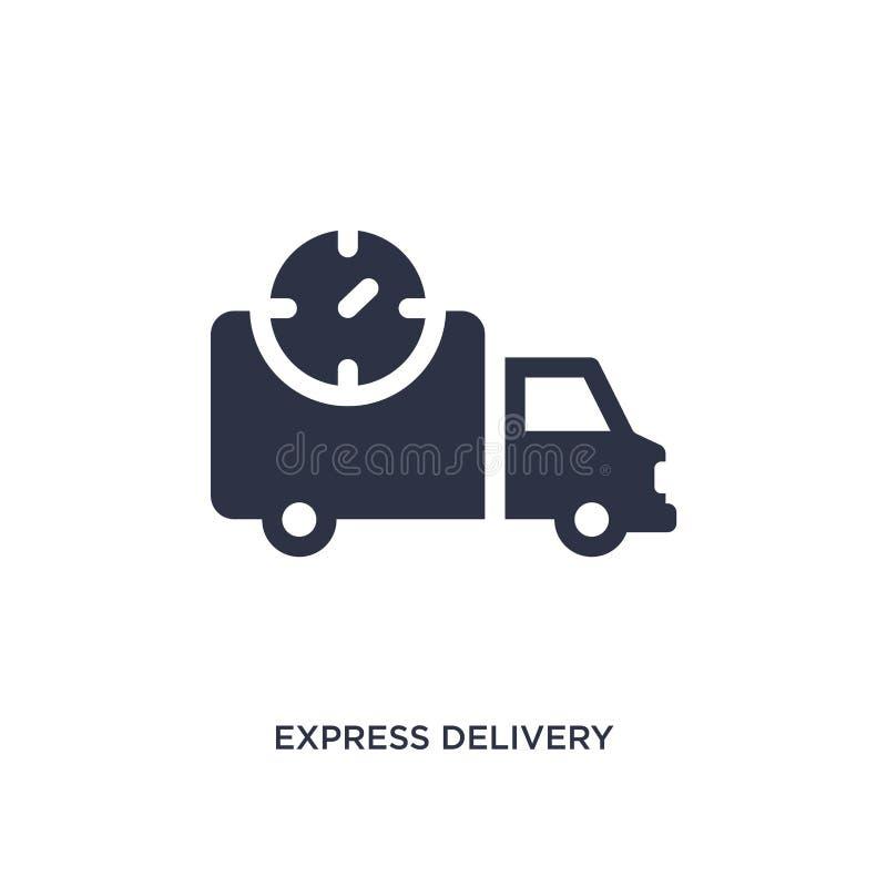 icône de la livraison express sur le fond blanc Illustration simple d'élément de concept de la livraison et de logistique illustration libre de droits