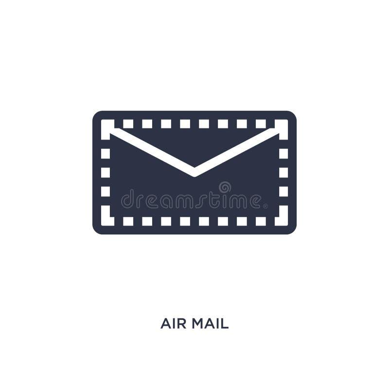 icône de la poste aérienne sur le fond blanc Illustration simple d'élément de la livraison et de concept logistique illustration libre de droits