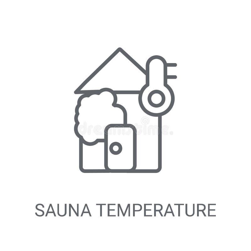 Icône de la température de sauna Concept à la mode de logo de la température de sauna dessus illustration stock