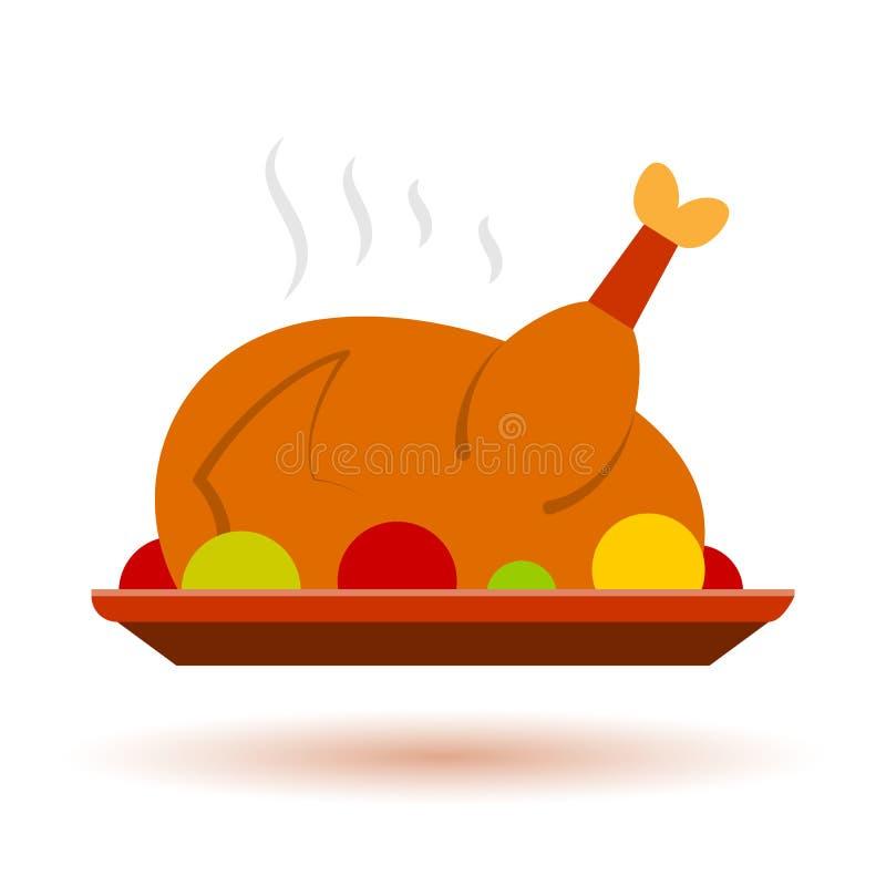 Icône de la Turquie de couleur de Cristmas de thanksgiving illustration stock