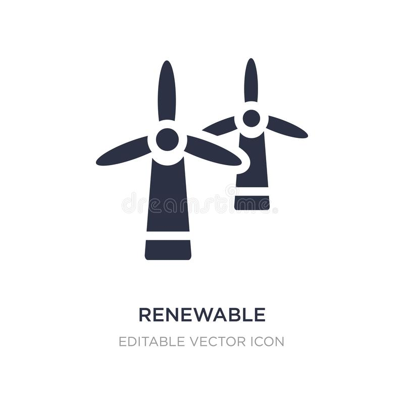 icône de label d'énergie renouvelable sur le fond blanc Illustration simple d'élément de notion générale illustration de vecteur