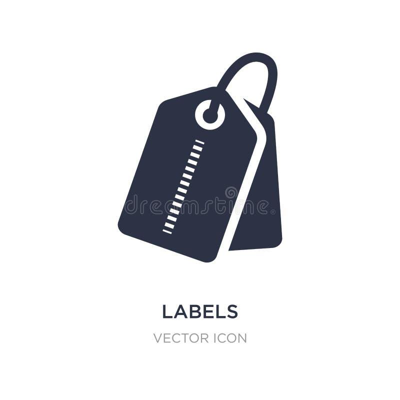 icône de labels sur le fond blanc Illustration simple d'élément de concept d'UI illustration de vecteur