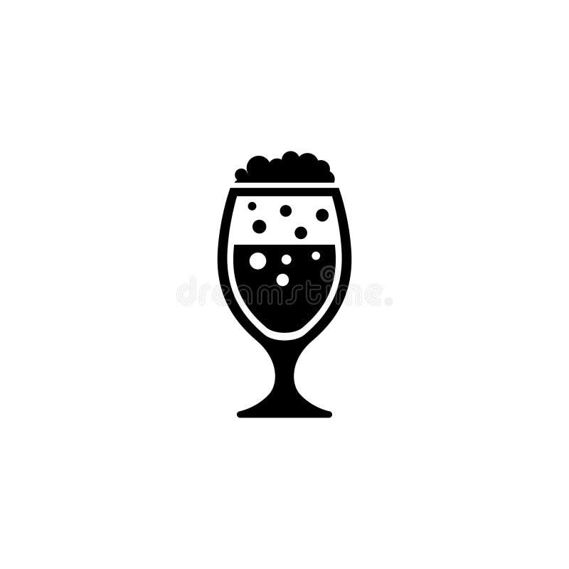 Icône de Lager Beer Glass Flat Vector illustration de vecteur