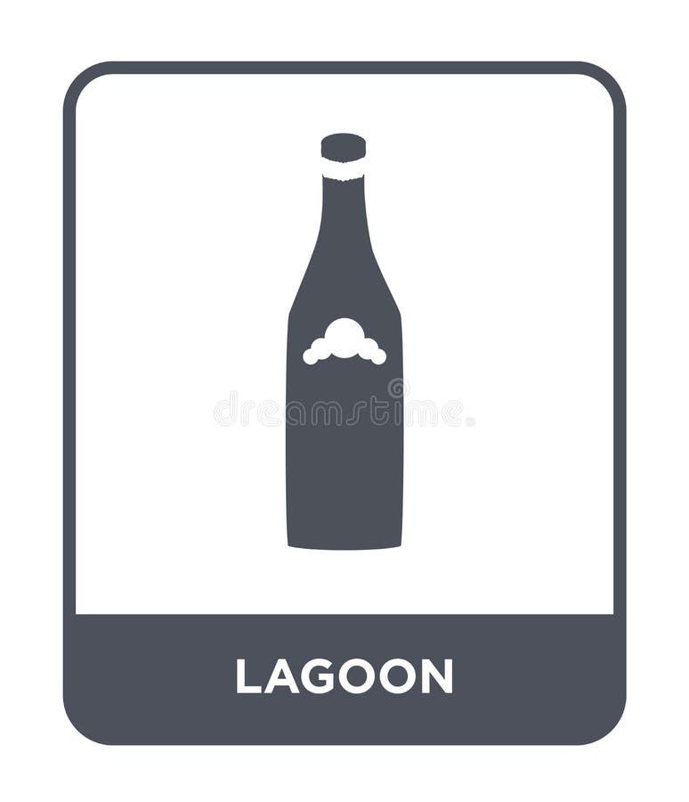 icône de lagune dans le style à la mode de conception icône de lagune d'isolement sur le fond blanc symbole plat simple et modern illustration stock