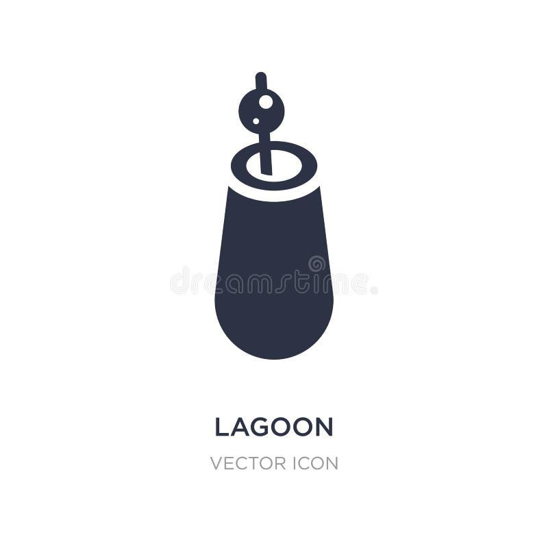 icône de lagune sur le fond blanc Illustration simple d'élément de concept de boissons illustration libre de droits