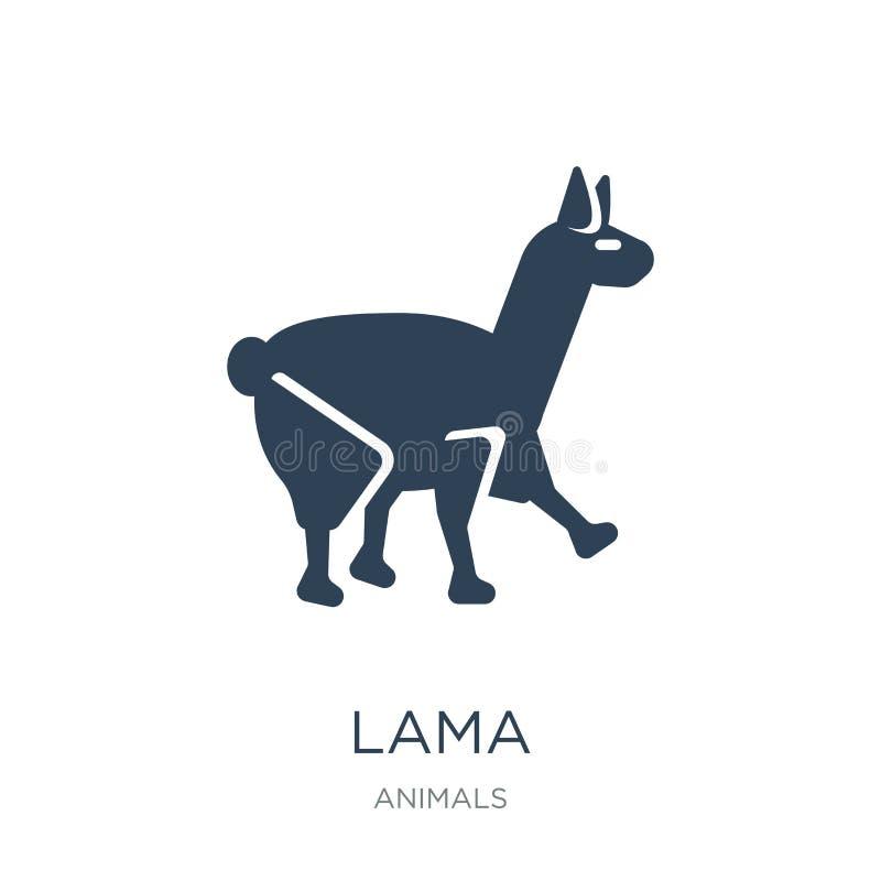 icône de lama dans le style à la mode de conception icône de lama d'isolement sur le fond blanc symbole plat simple et moderne d' illustration stock