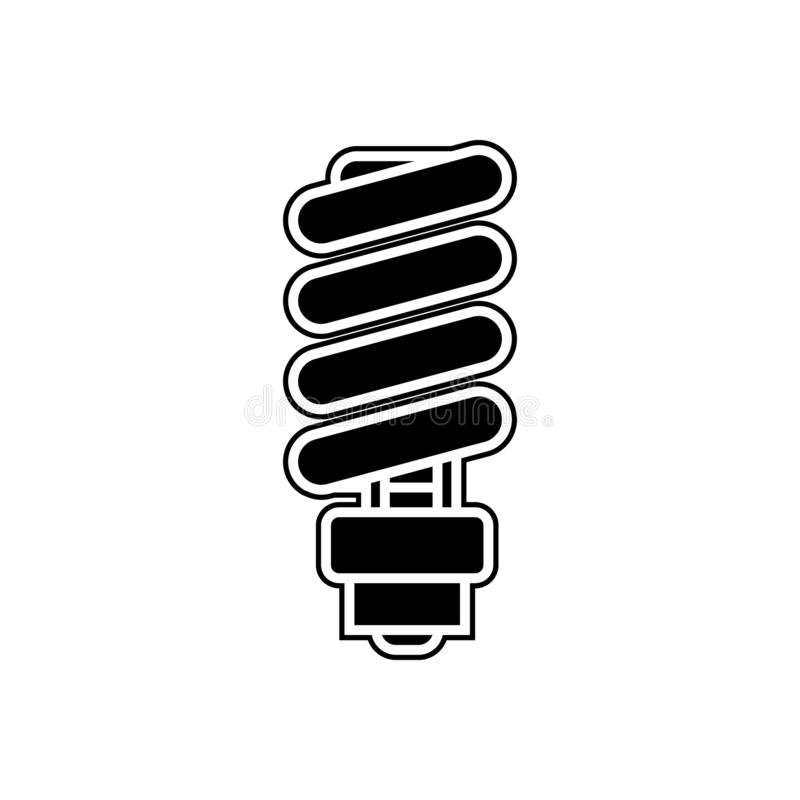 Icône de lampe d'Eco Élément des appareils pour le concept et l'icône mobiles d'applis de Web Glyph, icône plate pour la concepti illustration de vecteur