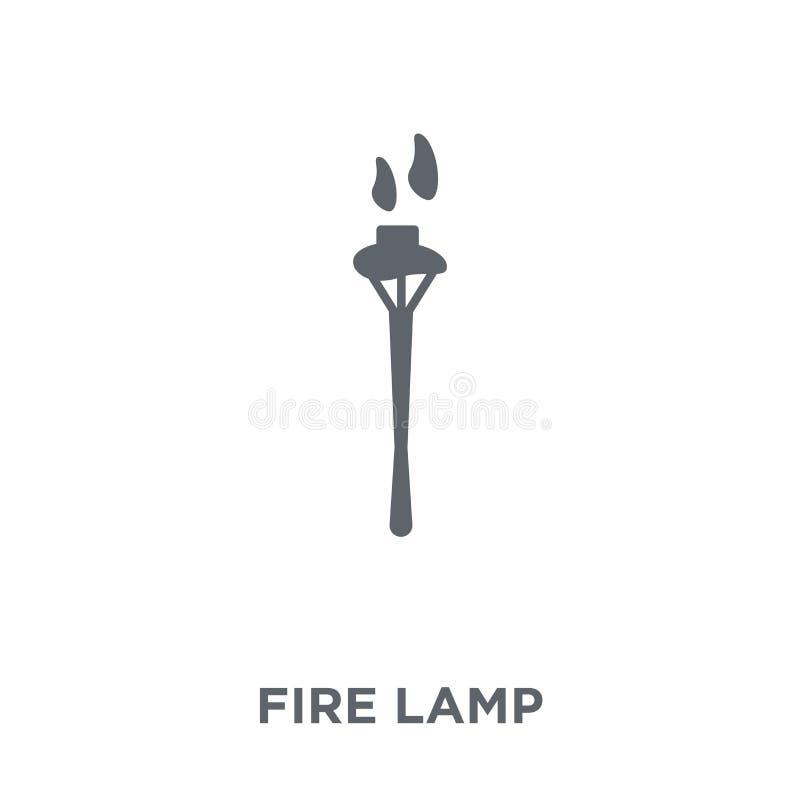 Icône de lampe du feu de la collection campante illustration libre de droits