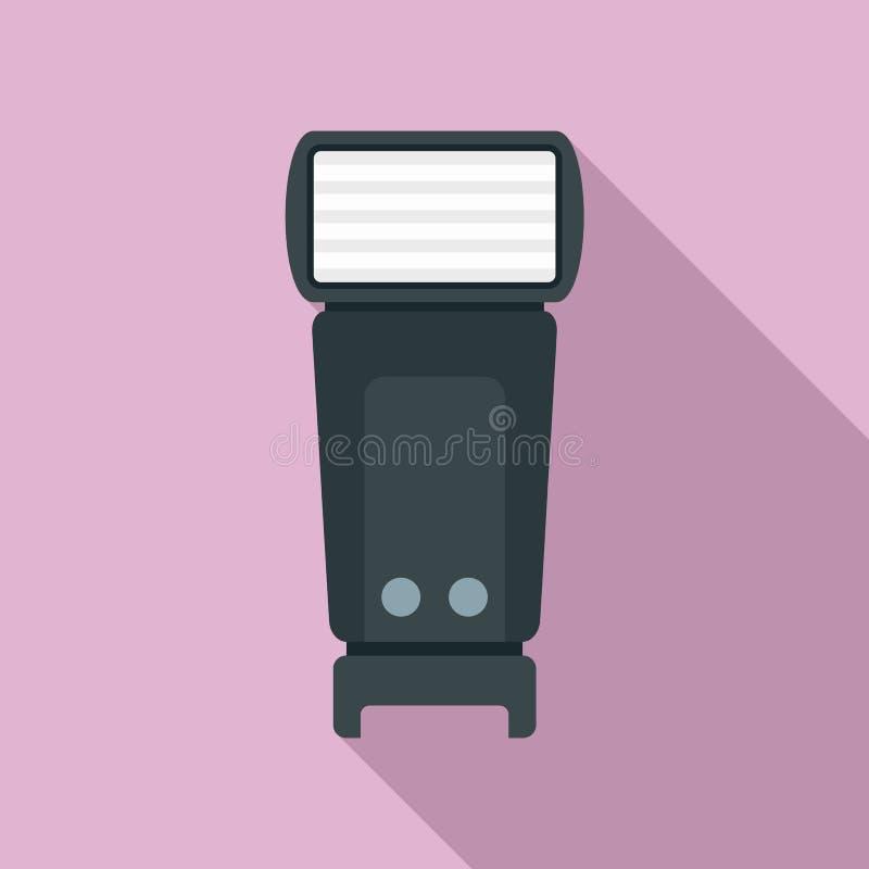 Icône de lampe-torche de caméra, style plat illustration libre de droits