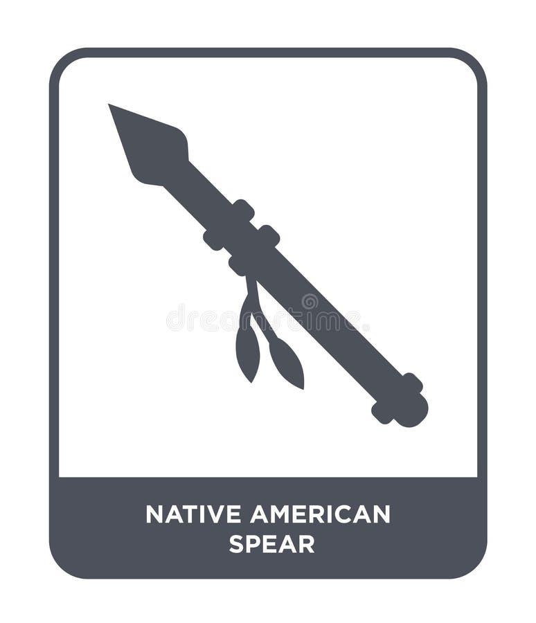 icône de lance de natif américain dans le style à la mode de conception icône de lance de natif américain d'isolement sur le fond illustration de vecteur