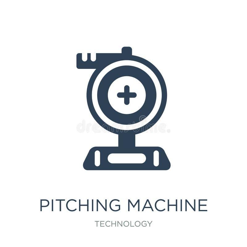 icône de lancement de machine dans le style à la mode de conception icône de lancement de machine d'isolement sur le fond blanc i illustration stock