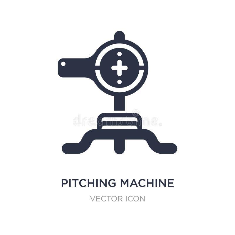 icône de lancement de machine sur le fond blanc Illustration simple d'élément de concept de technologie illustration stock