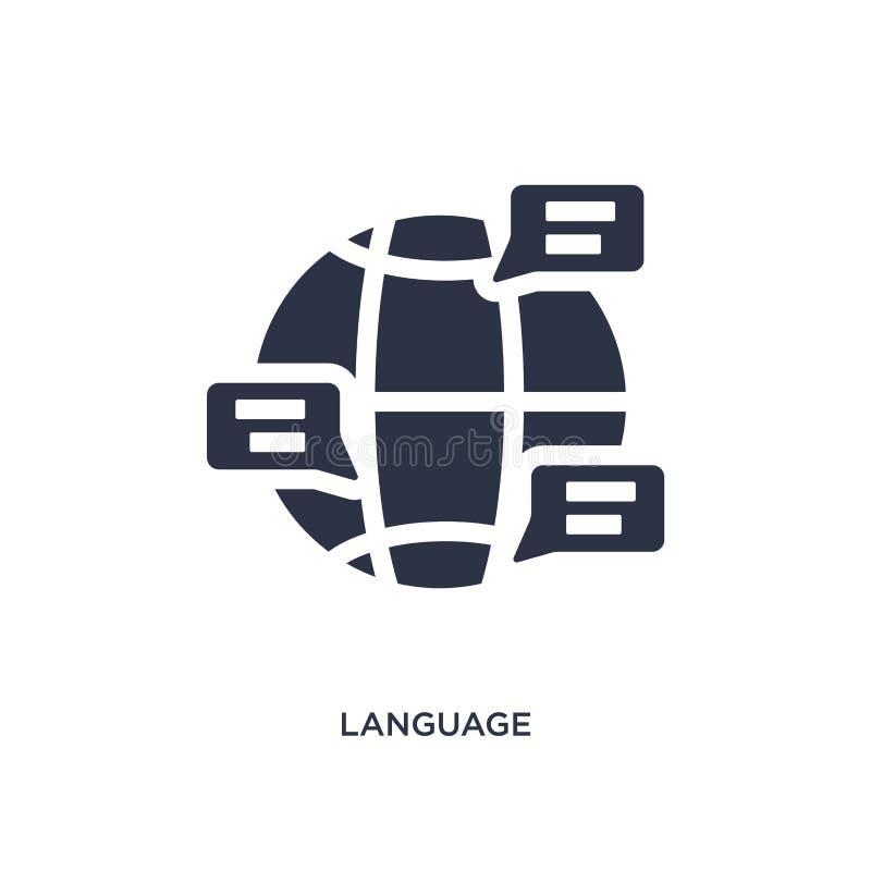 icône de langue sur le fond blanc Illustration simple d'élément de concept de résumé du travail illustration libre de droits