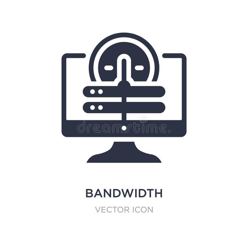 icône de largeur de bande sur le fond blanc Illustration simple d'élément de concept d'accueil de Web illustration libre de droits