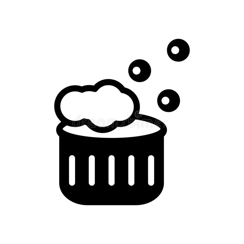 Icône de lavage de vêtements Concept de lavage à la mode de logo de vêtements sur le whi illustration libre de droits