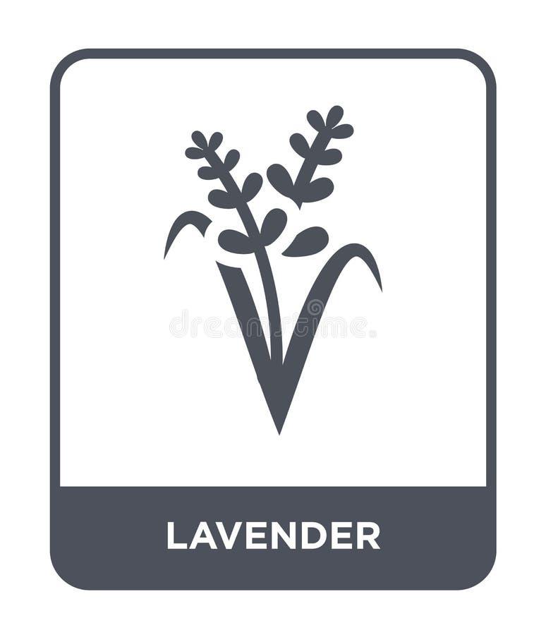 icône de lavande dans le style à la mode de conception icône de lavande d'isolement sur le fond blanc appartement simple et moder illustration libre de droits