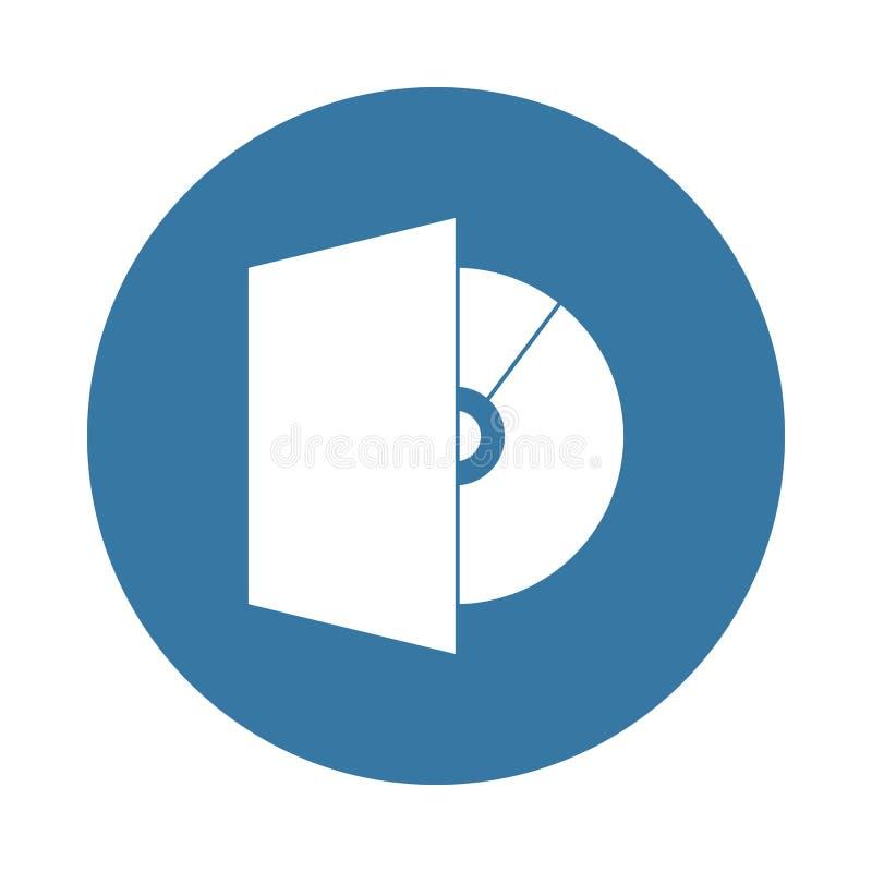 Icône de lecteur de cd-rom dans le style d'insigne illustration de vecteur