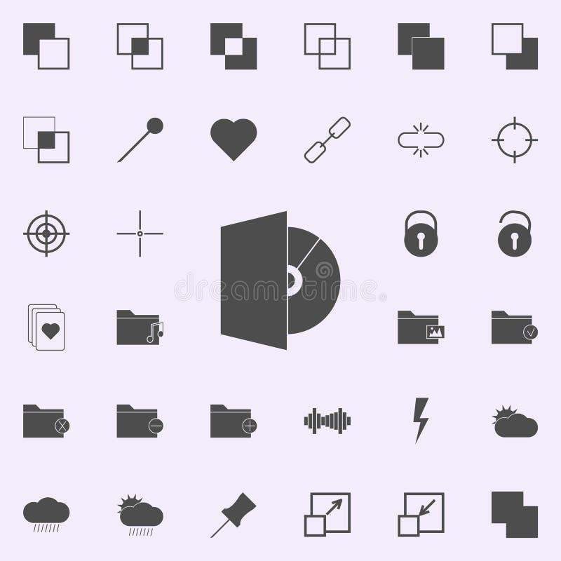 Icône de lecteur de cd-rom ensemble universel d'icônes de Web pour le Web et le mobile illustration stock