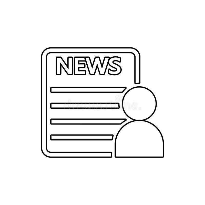 icône de lecteur de journal Élément des médias pour le concept et l'icône mobiles d'applis de Web Ligne mince icône pour la conce illustration libre de droits
