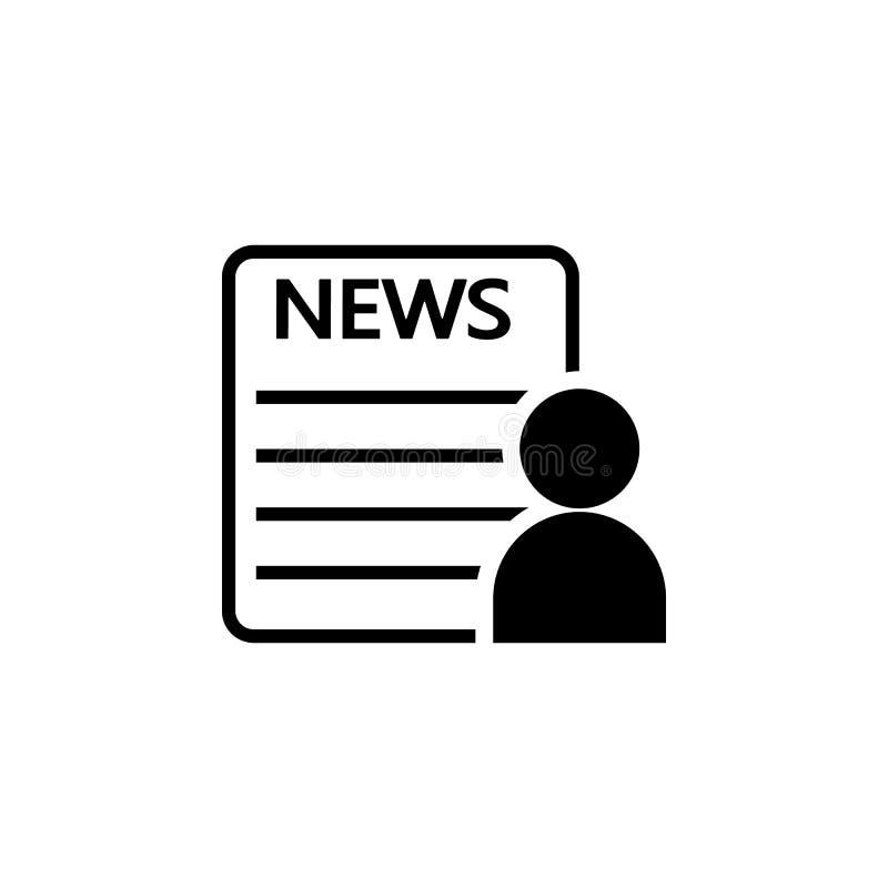 icône de lecteur de journal Éléments des actualités et du media coulant l'icône Conception graphique de qualité de la meilleure q illustration de vecteur