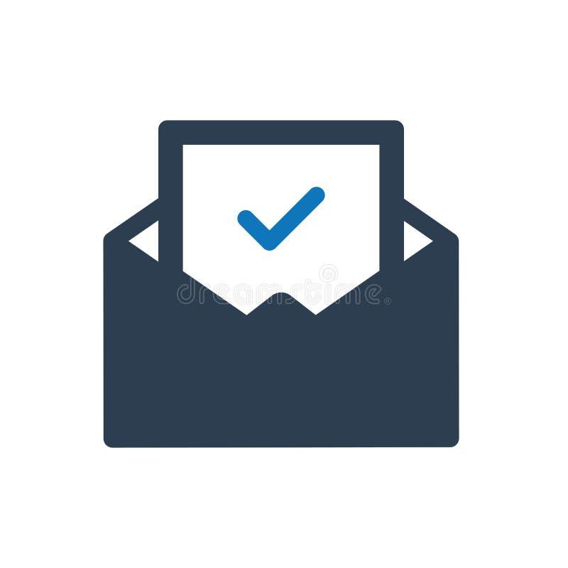 Icône de lettre de confirmation illustration de vecteur