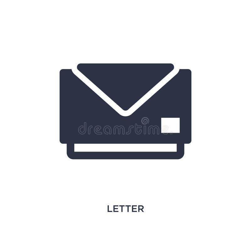 icône de lettre sur le fond blanc Illustration simple d'élément de concept de l'éducation 2 illustration de vecteur