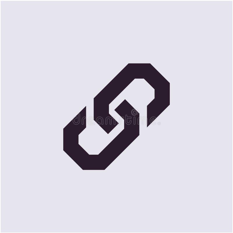 Icône de lien, icône à chaînes illustration libre de droits
